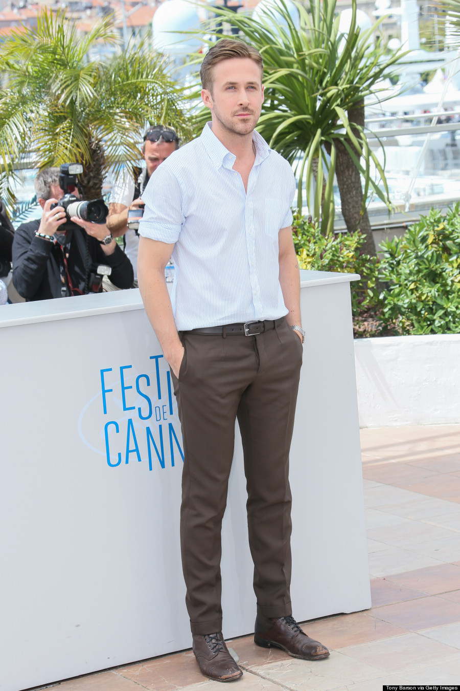 "CANNES, FRANCE - MAY 20:  Director Ryan Gosling attends the ""Lost River"" photocall at the 67th Annual Cannes Film Festival on May 20, 2014 in Cannes, France.  (Photo by Tony Barson/FilmMagic)"